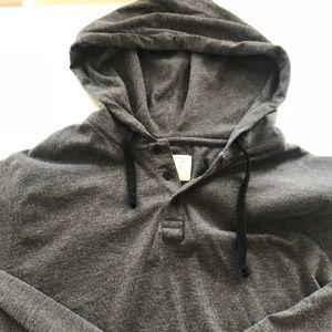 Krochet Kids Jackets & Coats - Gray Henley Style Pullover Hoodie